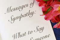 50+ Messages Of Sympathy: What To Say When Someone Dies regarding Sympathy Card Template