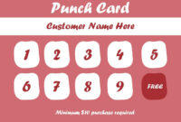 50+ Punch Card Templates – For Every Business (Boost with regard to Business Punch Card Template Free