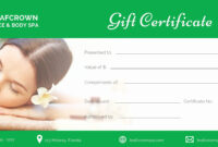 50 Salon Gift Certificate Templates | Culturatti throughout Spa Day Gift Certificate Template