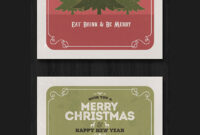 50+ Stylish Festive Christmas Greetings Card Templates intended for Adobe Illustrator Christmas Card Template