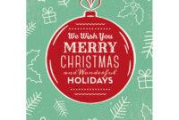 50+ Stylish Festive Christmas Greetings Card Templates throughout Adobe Illustrator Christmas Card Template