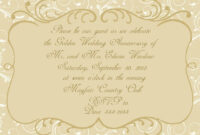 50Th Wedding Anniversary Invitation Cards Templates Printing within Sample Wedding Invitation Cards Templates