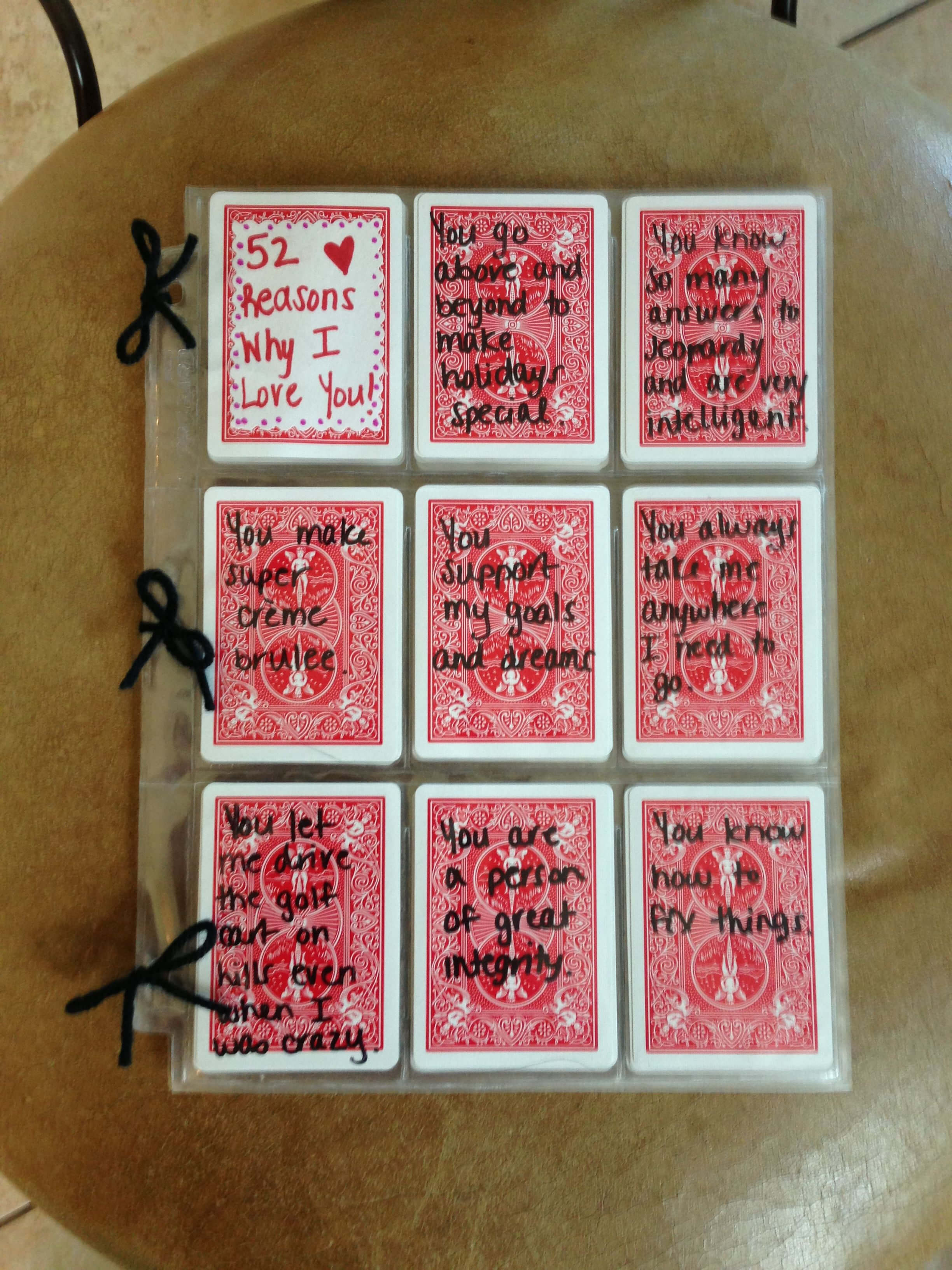 52 Reasons I Love You Write Reasons With Sharpie On Cards Pertaining To 52 Reasons Why I Love You Cards Templates
