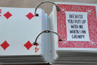 52 Things I Love About You Cards within 52 Things I Love About You Deck Of Cards Template