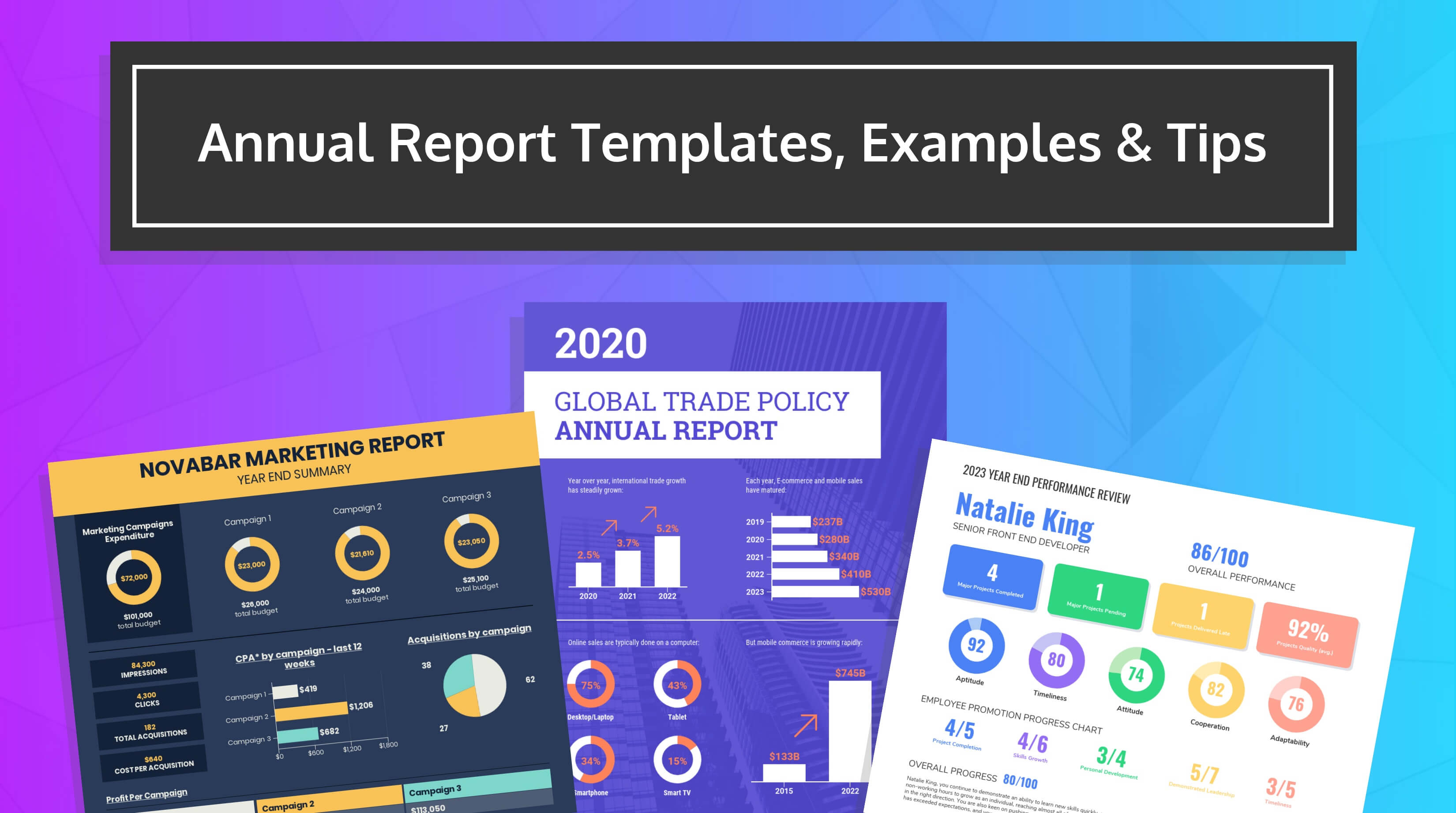 55+ Customizable Annual Report Design Templates, Examples & Tips within Nonprofit Annual Report Template