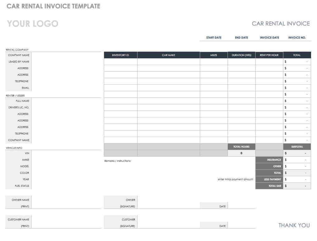 55 Free Invoice Templates | Smartsheet with Blank Scheme Of Work Template