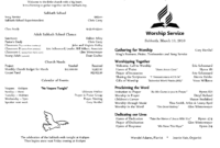 6 Awesome Seventh Day Adventist Church Bulletin Templates with regard to Church Program Templates Word