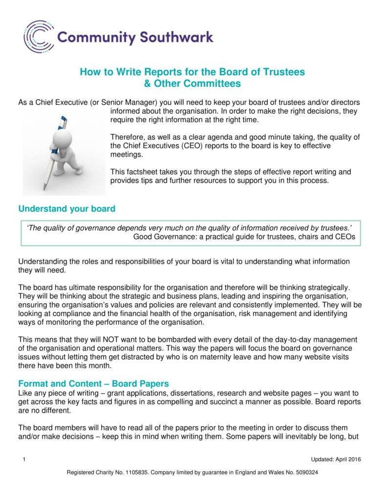 6+ Ceo Report Templates - Pdf | Free & Premium Templates within Ceo Report To Board Of Directors Template
