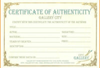 6+ Certificate Of Authenticity Templates | Weekly Template throughout Workstation Authentication Certificate Template