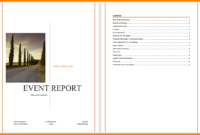 6+ Event Reporting Template | Business Opportunity Program in Post Event Evaluation Report Template