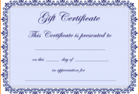 6+ Free Gift Certificate Templates For Word 2007 | Quick Askips regarding Free Certificate Templates For Word 2007