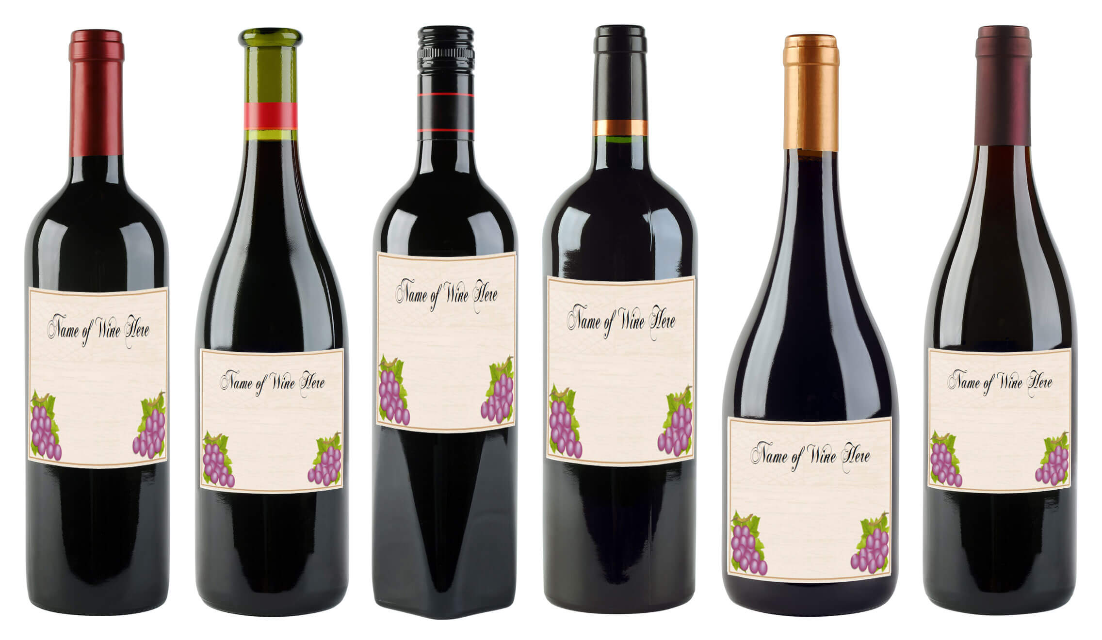 6 Free Printable Wine Labels You Can Customize | Lovetoknow With Blank Wine Label Template