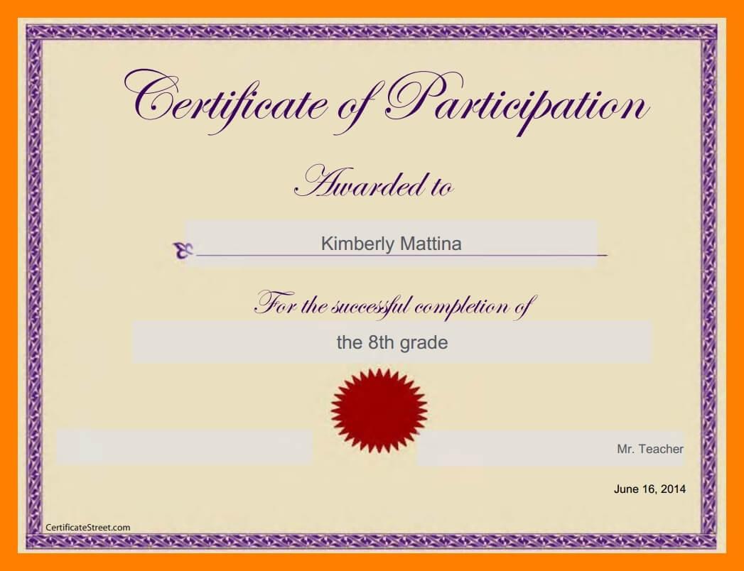 6+ Google Docs Certificate Template   Pear Tree Digital regarding Certificate Of Participation Template Doc