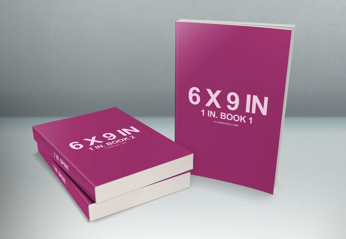 6 X 9 Book Series Presentation Mockup   Book Cover Design with 6X9 Book Template For Word