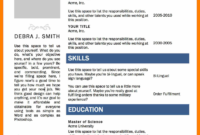 7+ Cv Templates Word 2007 | Lobo Development within Resume Templates Word 2007