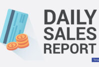 7+ Daily Sales Report Templates – Pdf, Psd, Ai | Free Throughout Free Daily Sales Report Excel Template