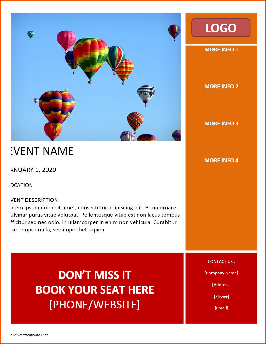 7+ Free Flyer Template Word - Bookletemplate regarding Templates For Flyers In Word