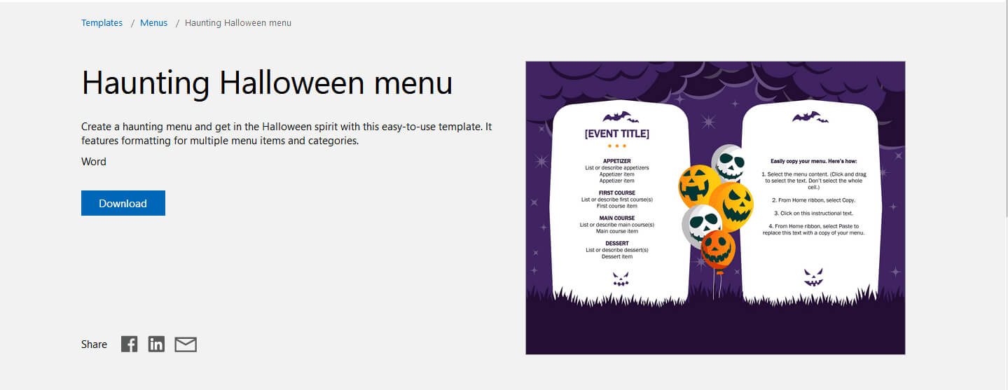 7 Free Halloween-Themed Templates For Microsoft Word with regard to Free Halloween Templates For Word