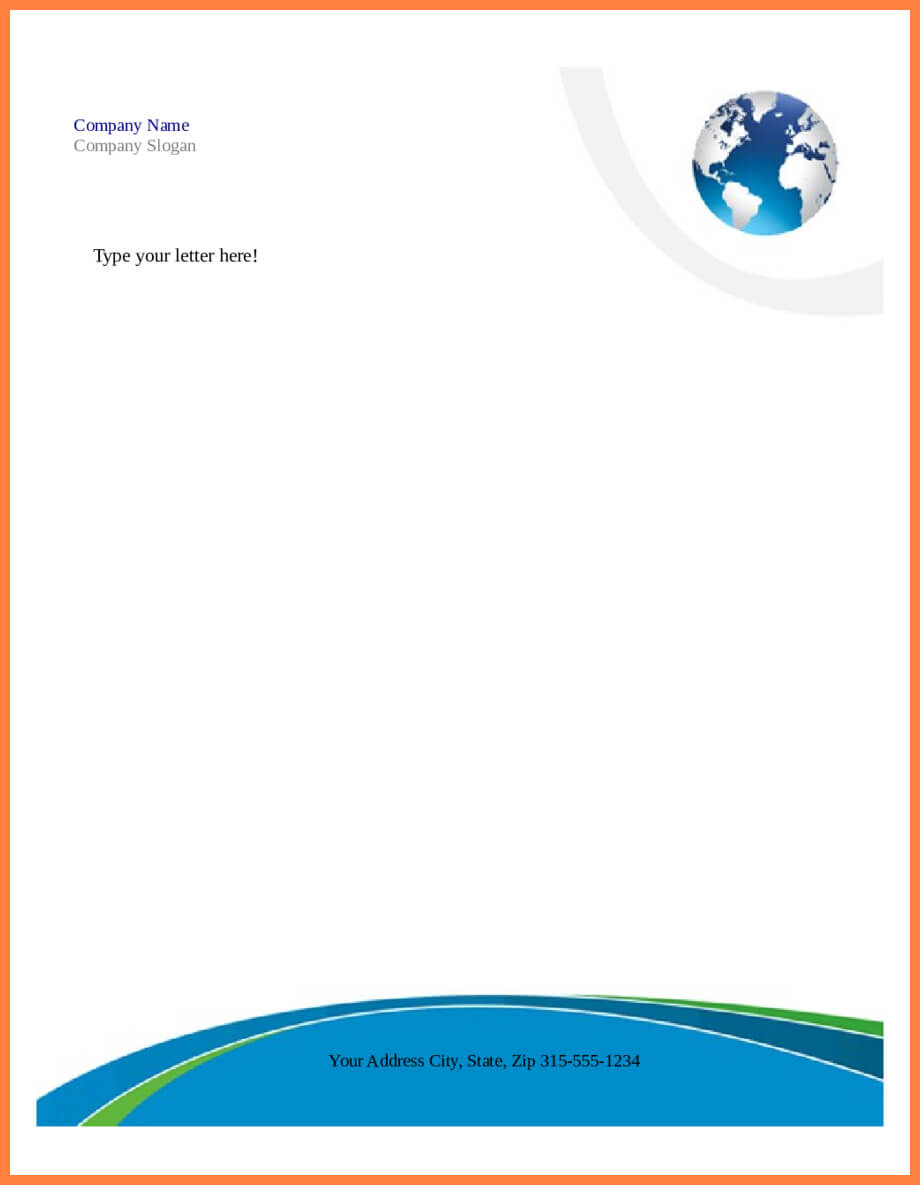 7+ Free Microsoft Word Letterhead Templates Download pertaining to Headed Letter Template Word