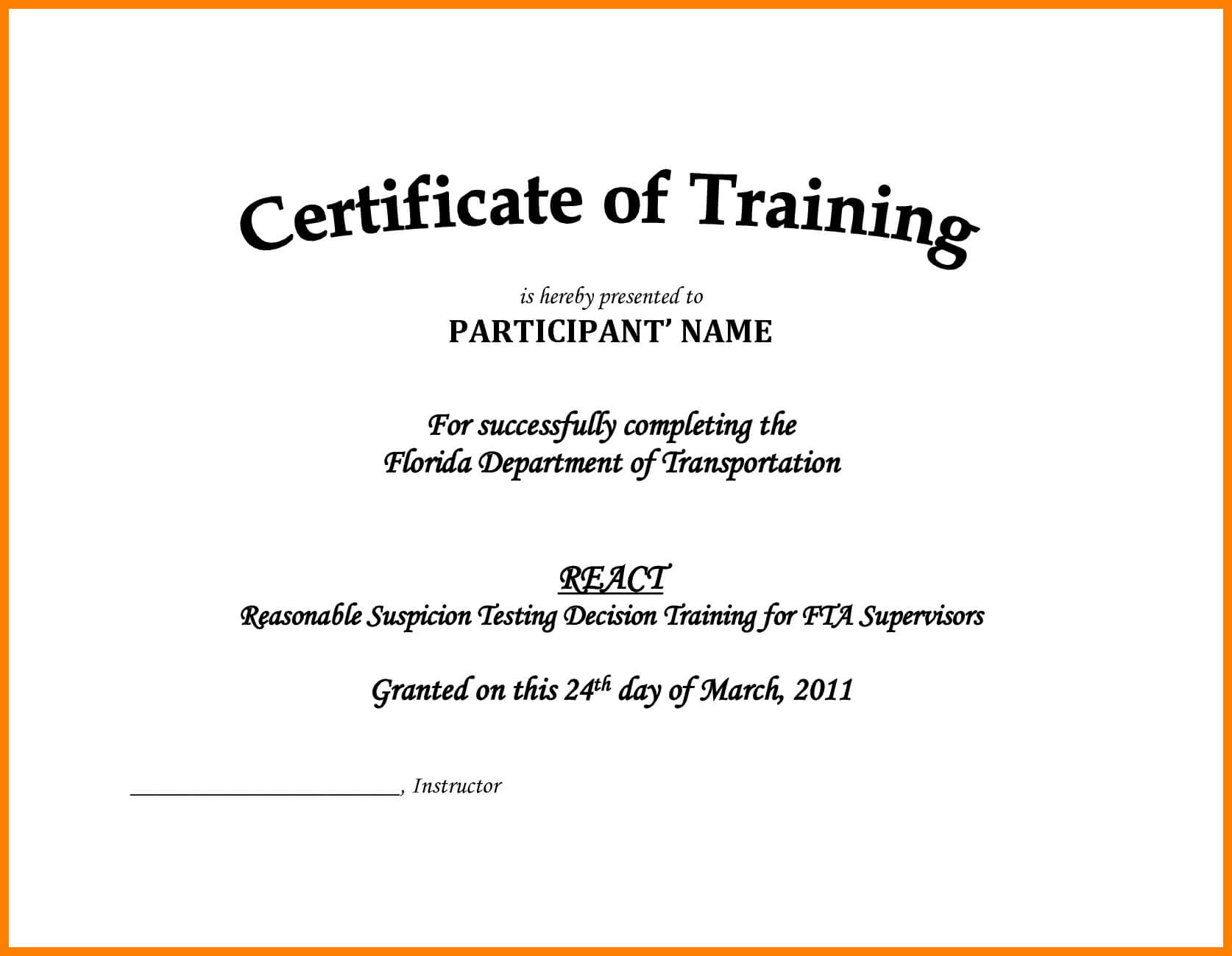 7+ Free Printable Training Certificates Templates | Reptile with regard to Sales Certificate Template