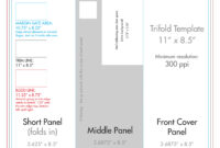 "8.5"" X 11"" Tri Fold Brochure Template – U.s. Press In 8.5 X11 Brochure Template"