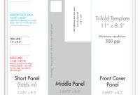 "8.5"" X 11"" Tri Fold Brochure Template – U.s. Press in Brochure Folding Templates"