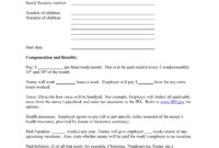 8+ Child Care Contract Example Templates – Docs, Word, Pages within Nanny Contract Template Word