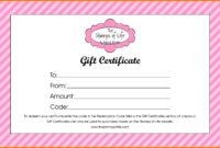 8+ Example Gift Voucher Template | Ismbauer within Restaurant Gift Certificate Template