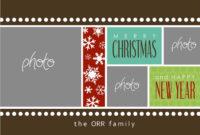 8 Free Photoshop Christmas Card Templates Images – Photoshop with Free Christmas Card Templates For Photoshop