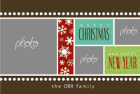 8 Free Photoshop Christmas Card Templates Images – Photoshop within Christmas Photo Card Templates Photoshop