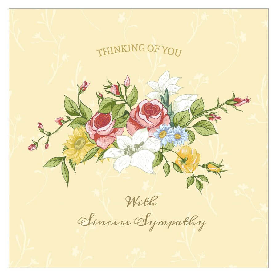 8 Free, Printable Condolence And Sympathy Cards With Regard To Sympathy Card Template