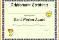 8+ Good Job Award Template   Quick Askips throughout Good Job Certificate Template