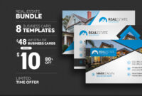 8 Real Estate Business Cards – Graphic Pick in Real Estate Business Cards Templates Free