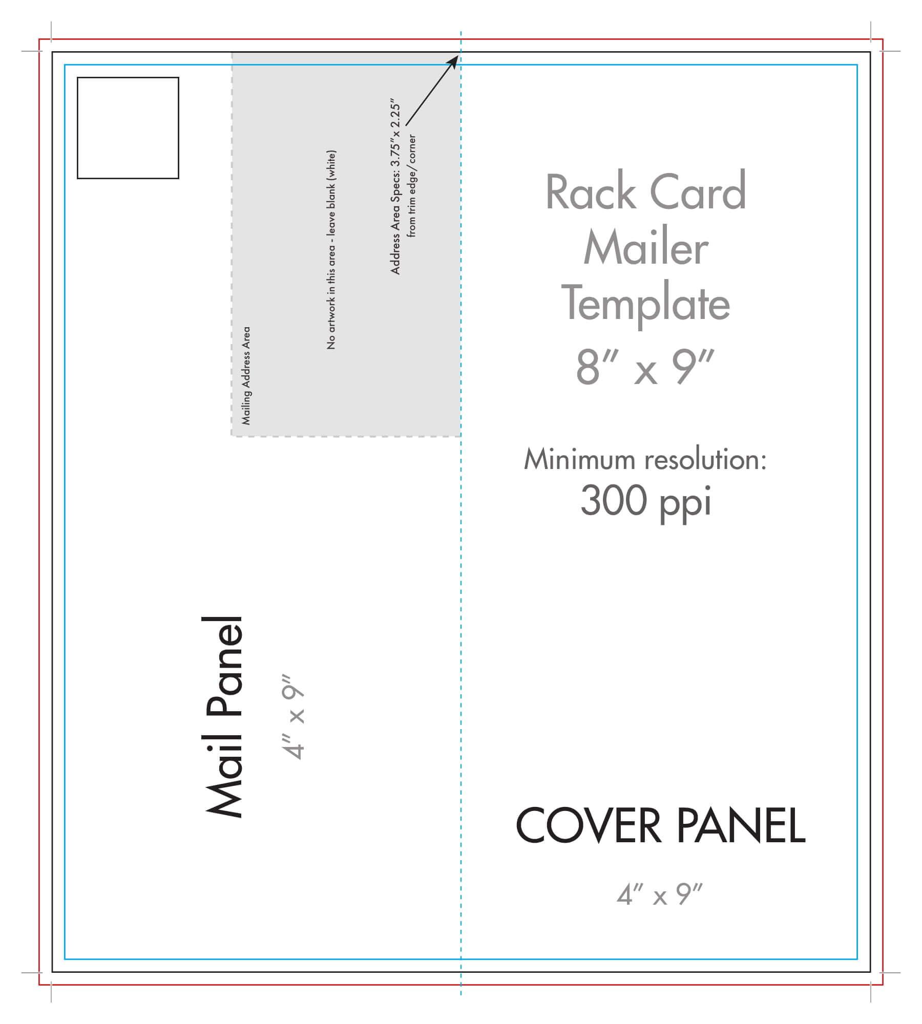 "8"" X 9"" Rack Brochure Template (Half Fold) - U.s. Press For Half Fold Card Template"