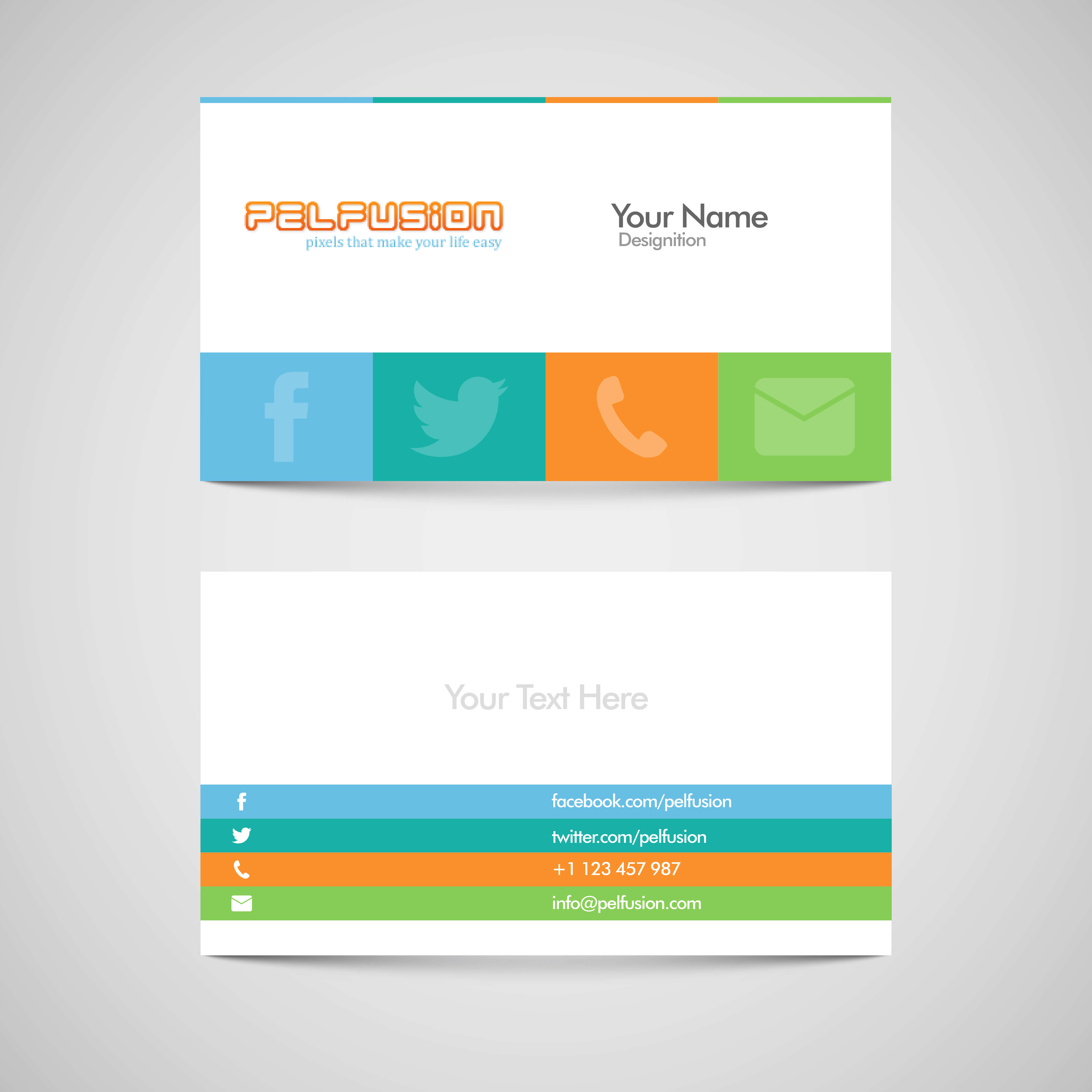 83 Free High Quality Business Card Templates – Pelfusion throughout Free Personal Business Card Templates