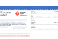 9 Best Photos Of Print Blank Cpr Card – American Heart for Cpr Card Template