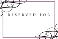 9 Best Photos Of Wedding Signage Templates – Reserved Table regarding Reserved Cards For Tables Templates