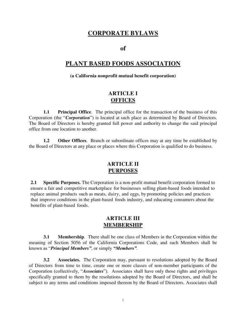 9+ Corporate Bylaws Templates - Pdf | Free & Premium Templates inside Corporate Bylaws Template Word