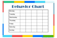 9 Free Behavior Chart Template – Word, Pdf, Docx within Reward Chart Template Word