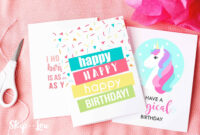 9 Free, Printable Birthday Cards For Everyone For Quarter Fold Birthday Card Template