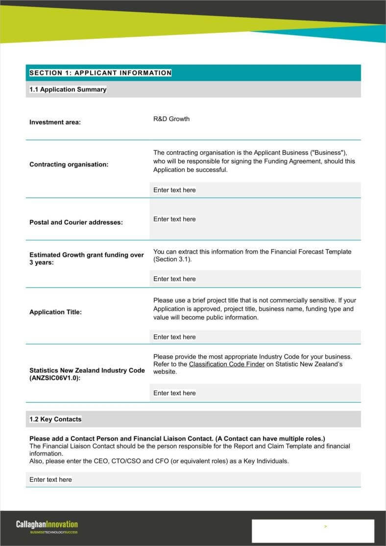 9+ Funding Application Form Templates - Free Pdf, Doc Format throughout Funding Report Template