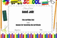 9+ Good Job Certificate Template   Quick Askips pertaining to Good Job Certificate Template