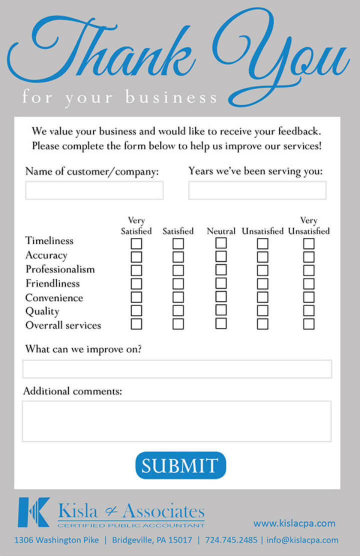 9+ Restaurant Customer Comment Card Templates & Designs Regarding Restaurant Comment Card Template