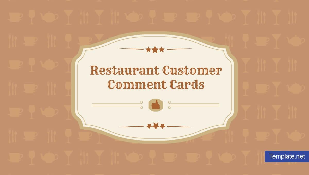 9+ Restaurant Customer Comment Card Templates & Designs with regard to Restaurant Comment Card Template
