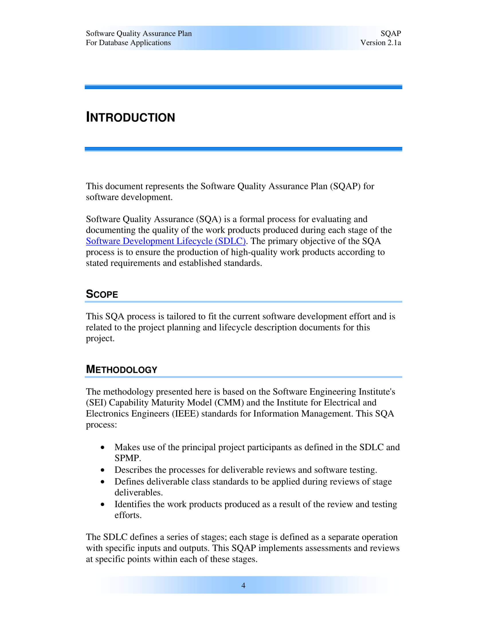 9+ Software Quality Assurance Plan Examples - Pdf   Examples Regarding Software Quality Assurance Report Template