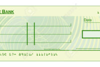 A Blank Cheque Check Template Illustration pertaining to Blank Cheque Template Download Free