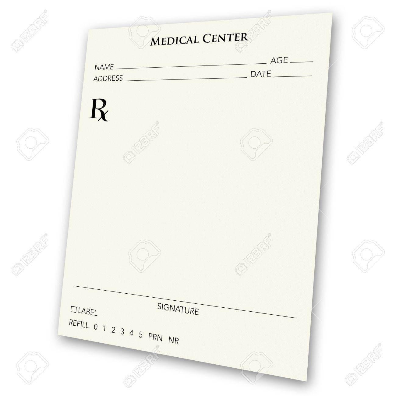 A Blank Prescription Pad - A Great Ad Concept. A Prescription.. regarding Blank Prescription Pad Template