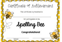 A Blog About Education, Children, Teaching, And My Journey with Spelling Bee Award Certificate Template