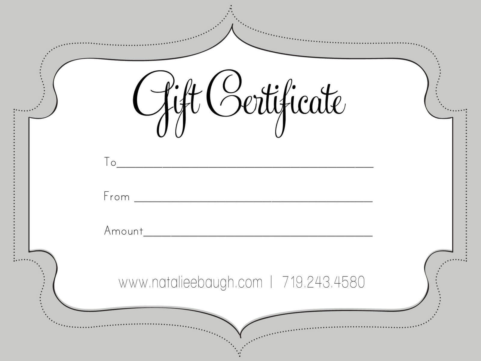 A Cute Looking Gift Certificate | Gift Certificate Template Pertaining To Black And White Gift Certificate Template Free
