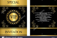 A Golden Vip Invitation Card Template That Can Be Used For intended for Event Invitation Card Template